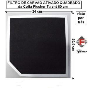 Filtro De Carvão Ativado - Coifas Fischer Talent 60cm